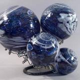 Black & white & blue silvered