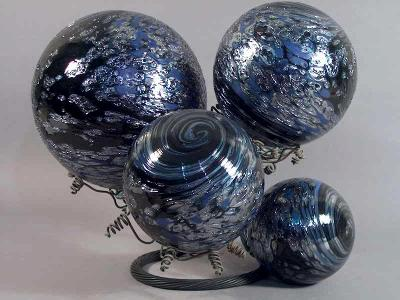 Black and Blue Silvered