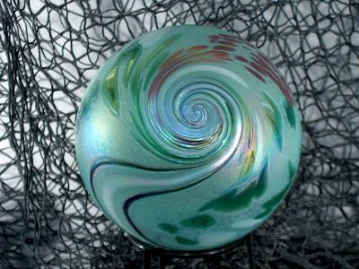tripple cane opposing twist, Fumed