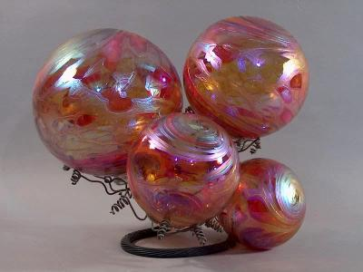 Aurora /copper / amber, Fumed
